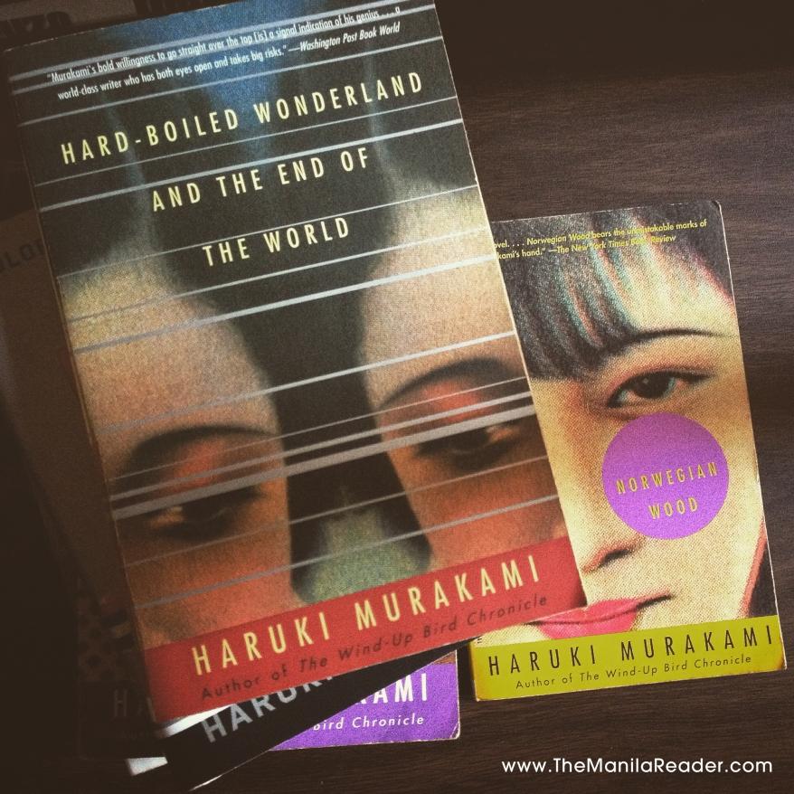 Faces on Haruki Murakami paperbacks.