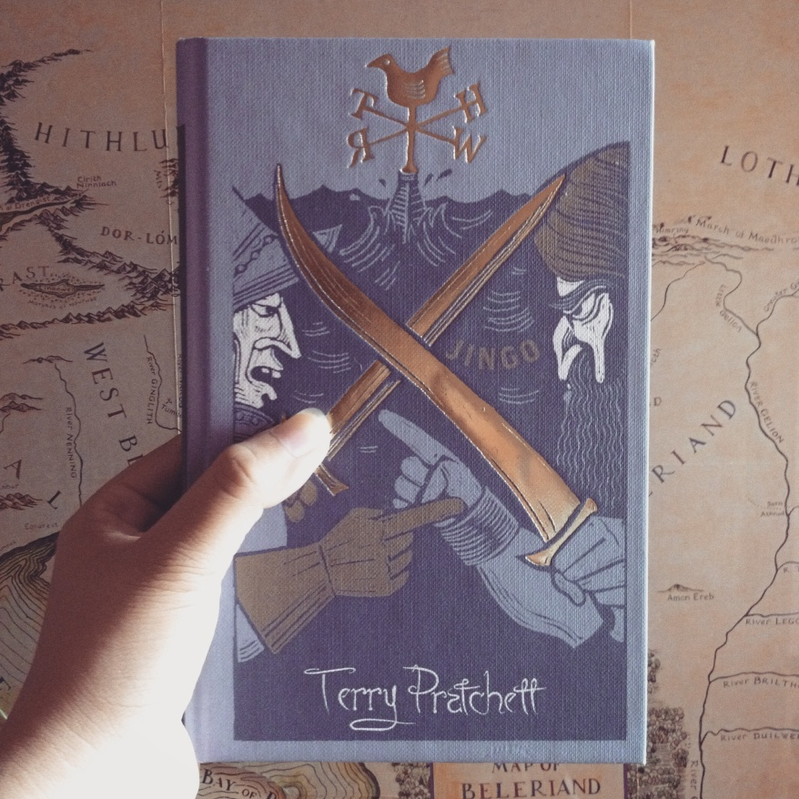 The Gollancz 2014 Collector's Library Edition of Terry Pratchett's Jingo.