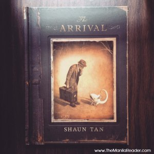 The cover for Shaun Tan's 2006 graphic novel, The Arrival.